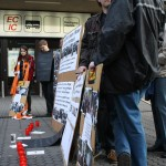 Mahnwache zu den Demonstrationen gegen Stuttgart 21