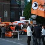 Gläsernes Mobil im NRW Wahlkampf 2012