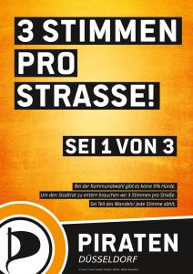 Plakat - 3 Stimmen pro Strasse