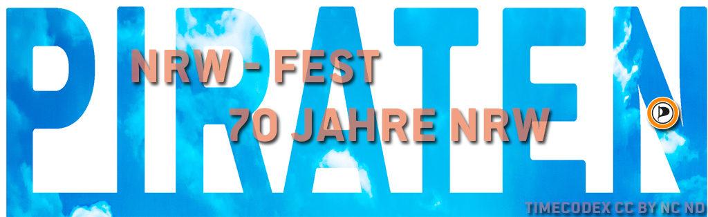 70 Jahre NRW, Piraten, NRW-FEST