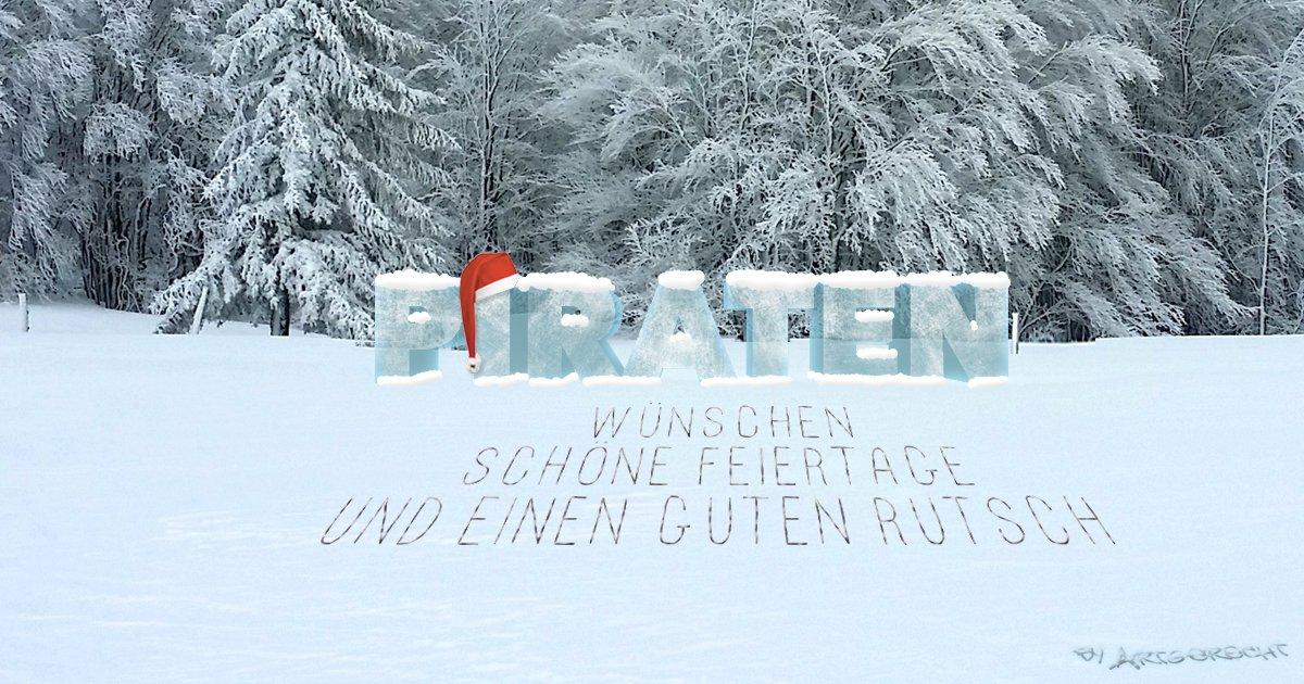 PIRATEN Düsseldorf wünschen ein Frohes Fest und einen guten Rutsch nach 2018.