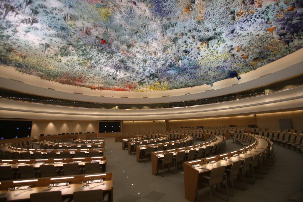 Foto des Sitzungssaals des UN-Menschenrechtsrats.