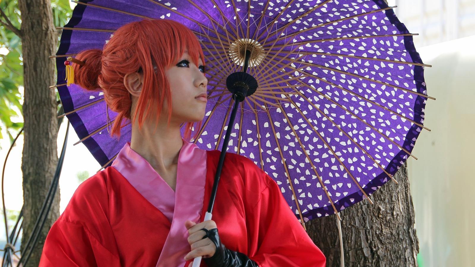 via Pixabay: Asiatin im Kimono mit japanisch traditionellem Schirm zur ComicCon & dem Japantag in Düsseldorf 2012.